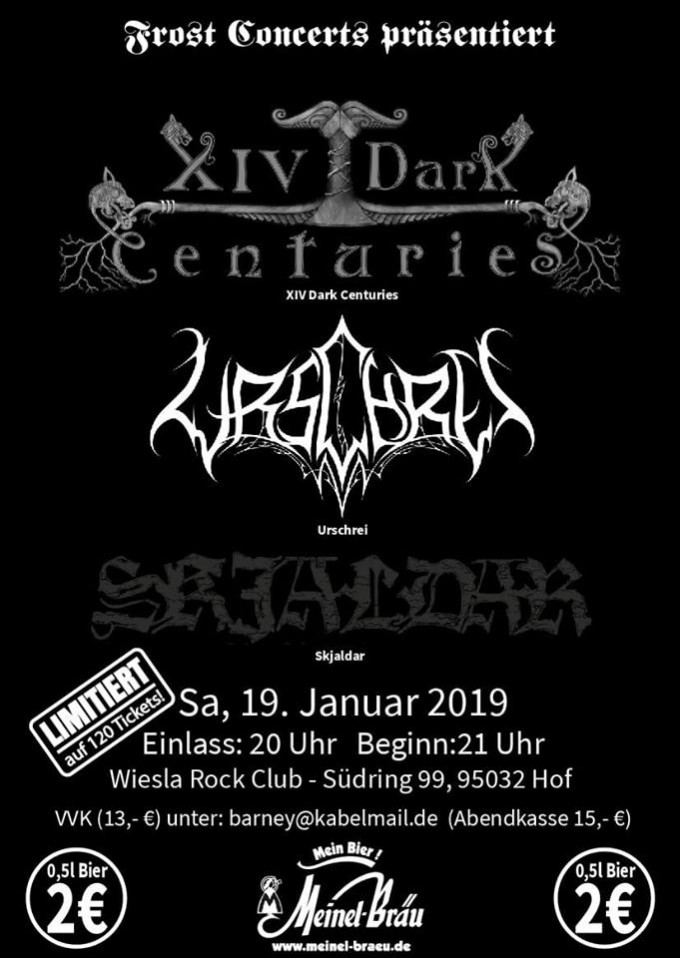 XIV Dark Centuries + support